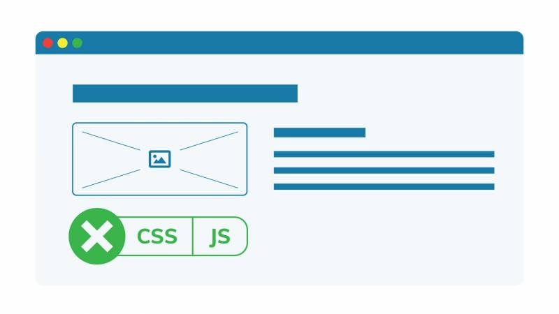 Example of how a page looks without CSS or JS