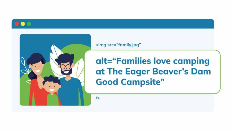 "alt=""Families love camping at The Eager Beaver's Dam Good Campsite"""