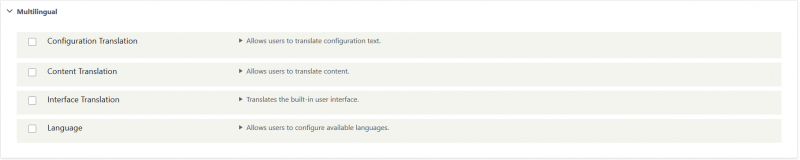 multilingual optional modules