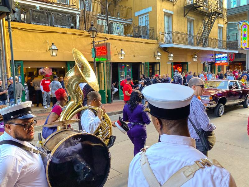 Marching band in New Orleans.