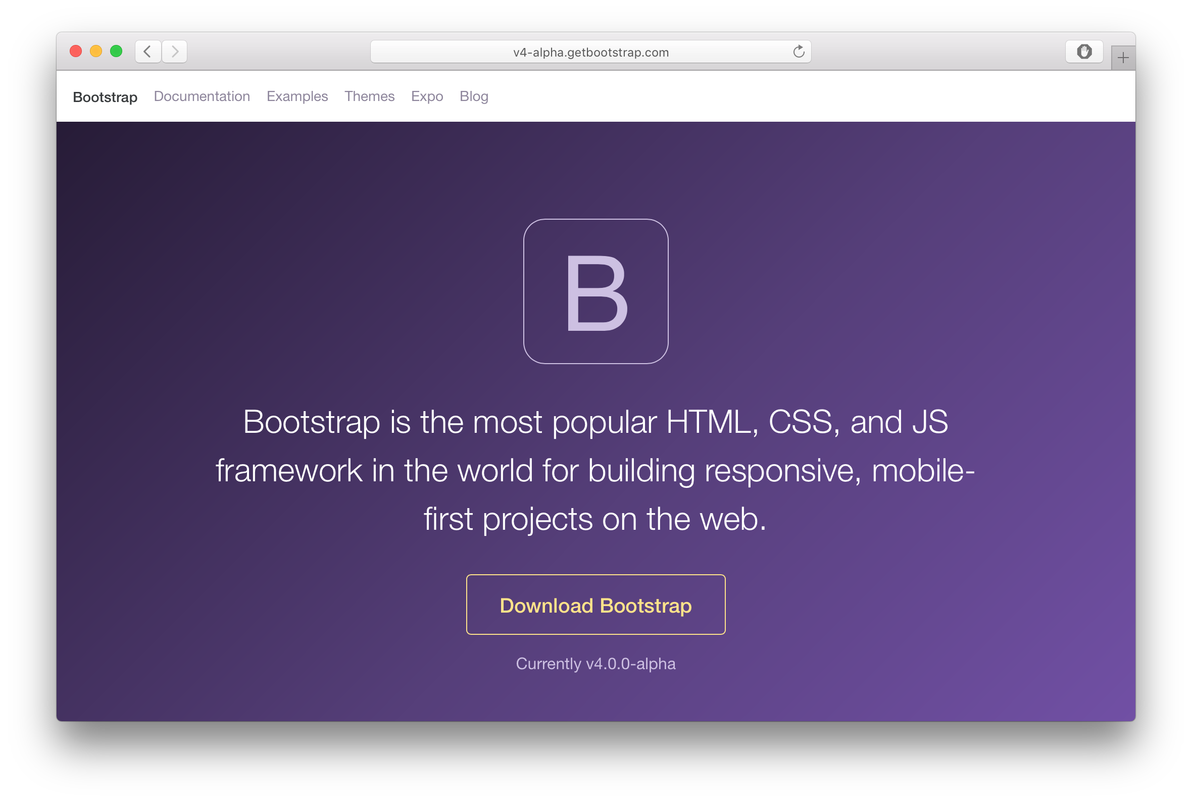 Bootstrap 4 has moved to SASS