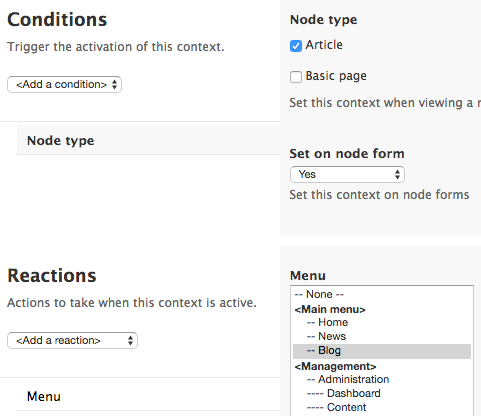 Context UI in Drupal 7