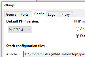 Set default PHP version