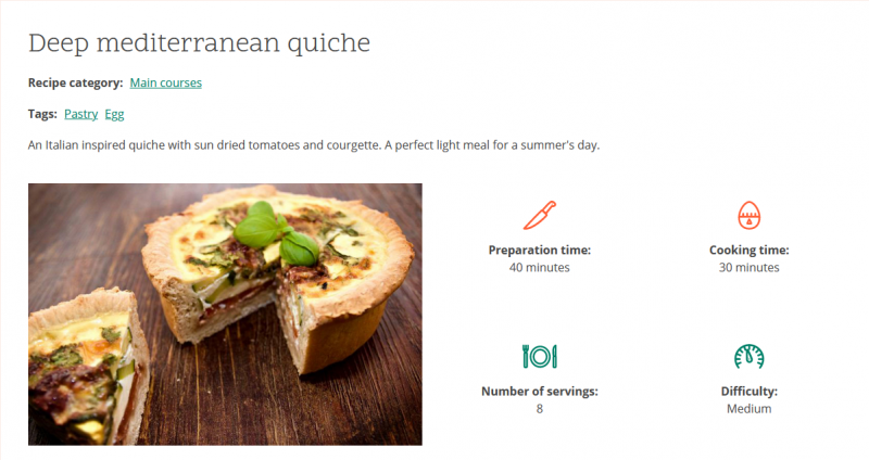 Example of white space used by the Umami Drupal template
