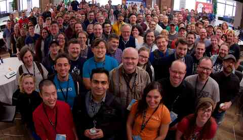 Group photo at MidCamp 2016