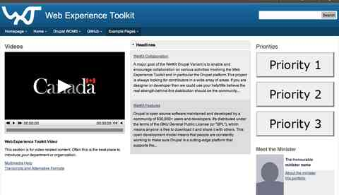 Drupal - Web Experience Toolkit Homepage