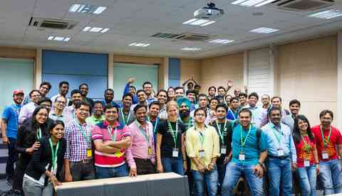 DrupalCon Asia Drupal 8 Theming training group photo