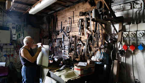 Workshop with many tools