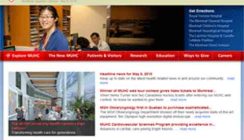 McGill university health care homepage