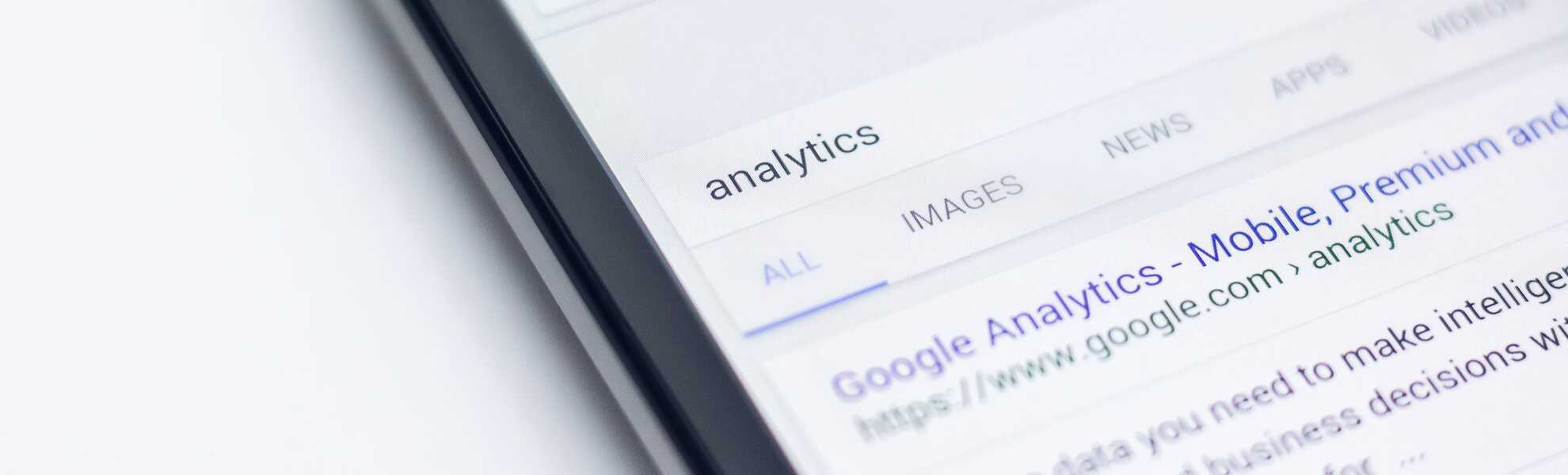 Google analytics on a smartphone