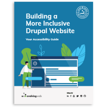 Cover of Building a more inclusive drupal website guide