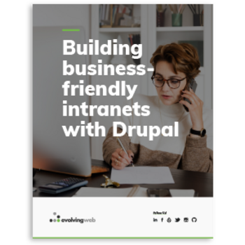 Cover of building business-friendly intranets with Drupal ebook