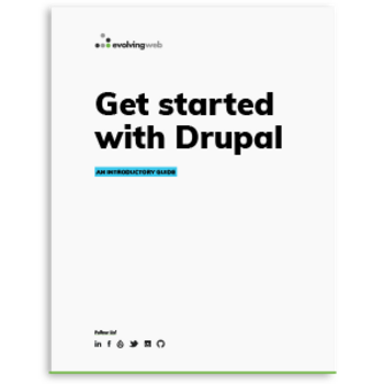 Cover of Get started with Drupal ebook