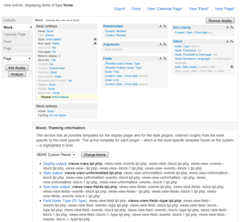 Theming views in drupal with templates and preprocess functions views theme information maxwellsz
